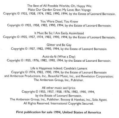 The page lists seven items each with multiple copyright dates, including 1955, 1957, 1958, 1974, 1976, 1982, 1990, and 1994,
