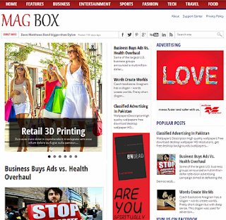 MagBox Blogger Template