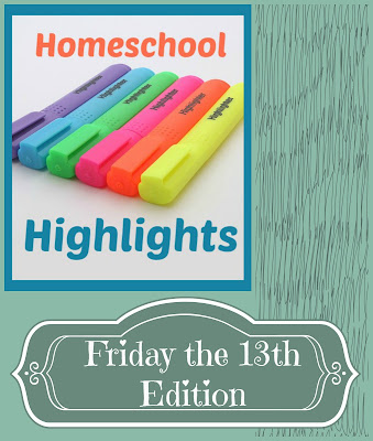 Homeschool Highlights - Friday the 13th Edition on Homeschool Coffee Break @ kympossibleblog.blogspot.com