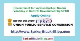 Sarkari-Naukri Vacancy Recruitment by UPSC
