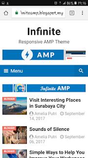Infinite AMP template blogger gratis