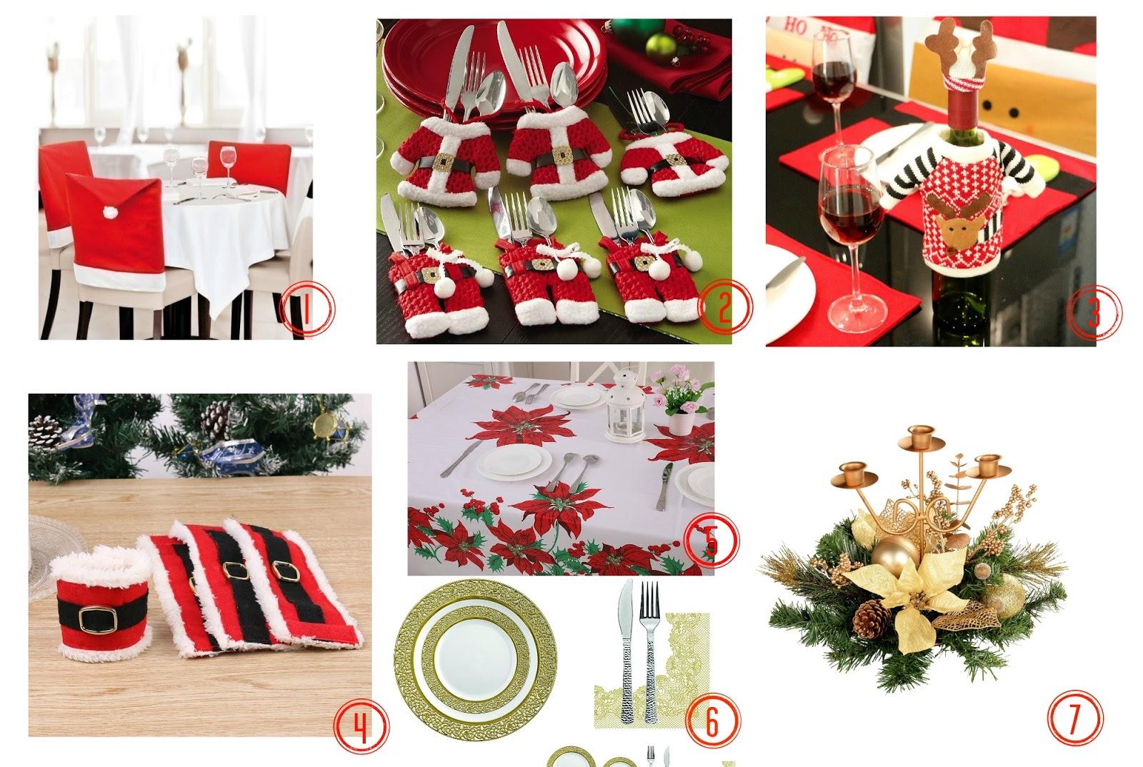 Idee per la tavola di natale coprisedie portaposate stoviglie e decorazioni low cost - Decorazioni tavola natale ...