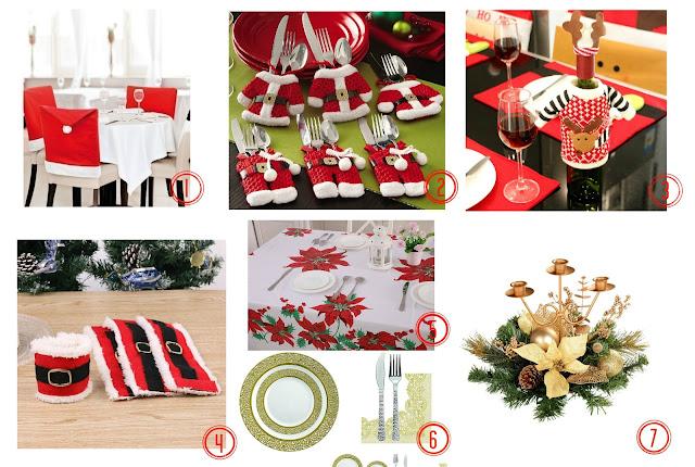 Idee per la tavola di natale coprisedie portaposate stoviglie e decorazioni low cost - Decorazioni per la tavola di natale ...