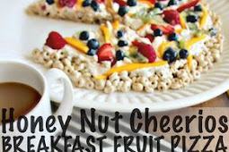 Honey Nut Cheerios Breakfast Fruit Pizza