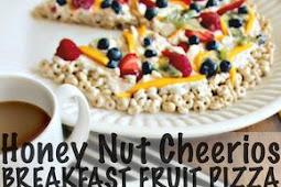 Honey Nut Cheerios Breakfast Fruit Pizza