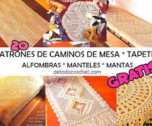 20 Patrones de Caminos de mesa, Tapetes, Manteles, Cubrecama y algo más para descargar