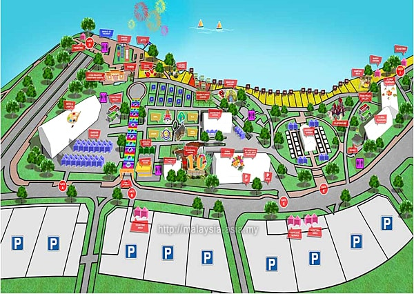 Layout Map Royal Floria 2018