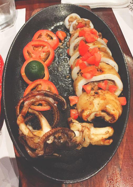 Sizzling sisig-stuffed squid at Zubuchon