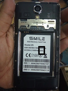 Smile Z9 Official Stock Firmware Rom MT6572 Nand Cm2 Read