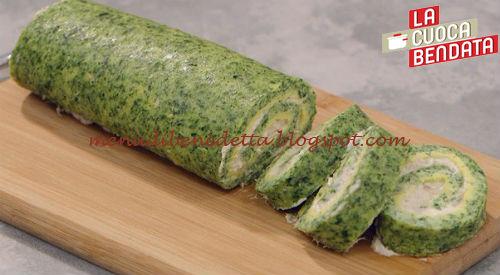 La Cuoca Bendata - Rotolo di spinaci farcito ricetta Parodi