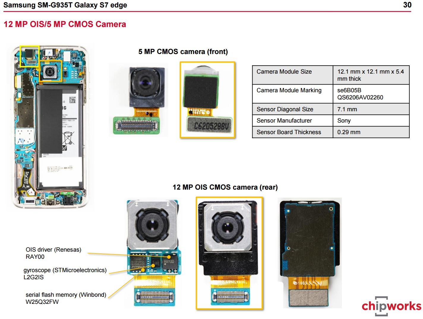 Image Sensors World: Samsung Galaxy S7 Teardown Slides