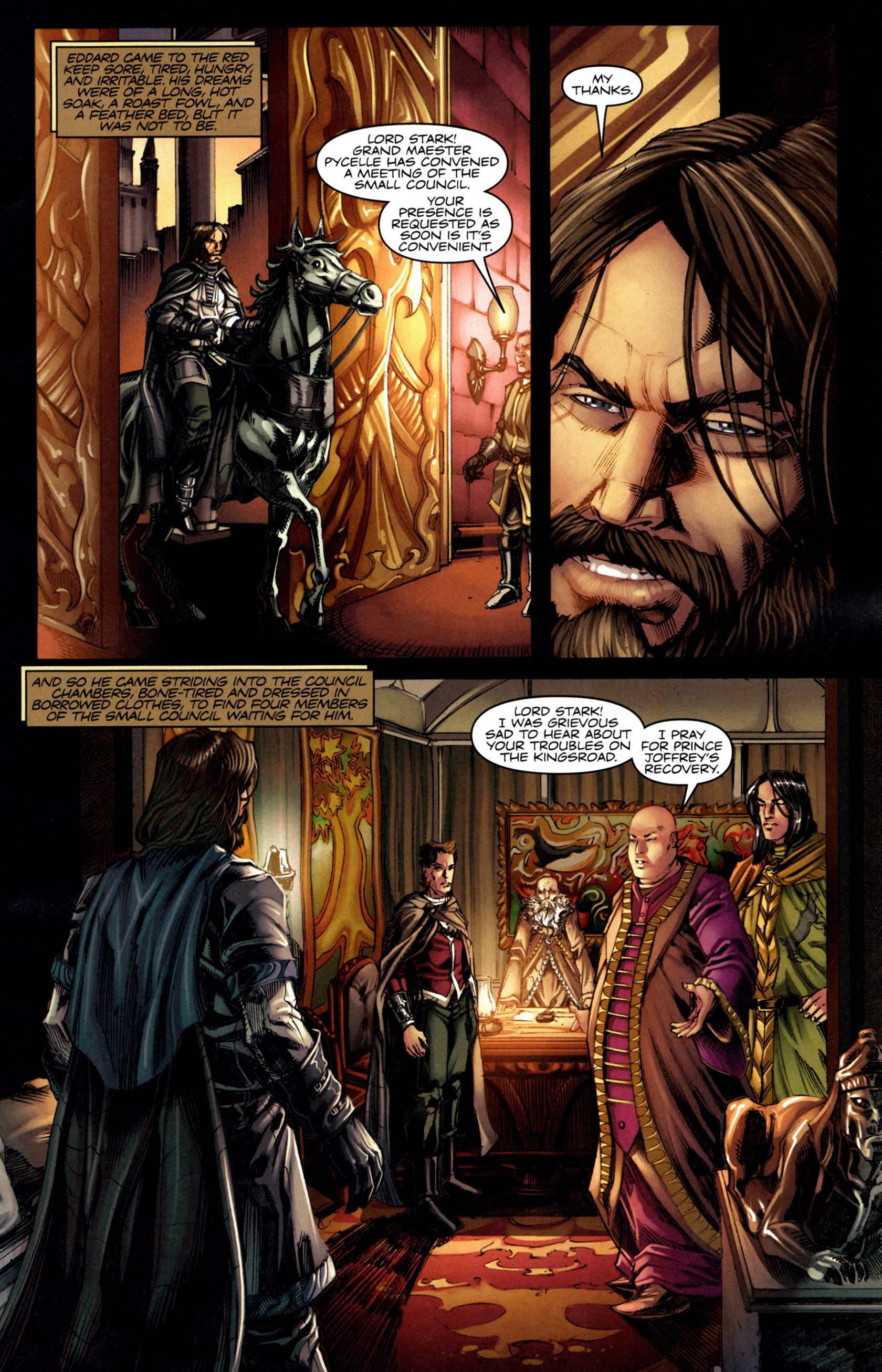 Read online A Game Of Thrones comic -  Issue #6 - 13