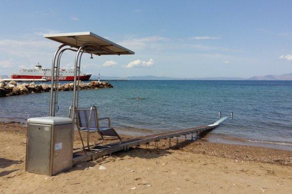 """Πρόταση του Συλλόγου Αναπήρων """"Η ΣΤΟΡΓΗ"""" για τοποθέτηση της Ειδικής Ράμπας στην παραλία Δρέπανο"""