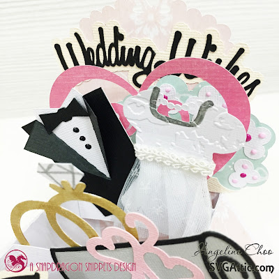 SVG Attic: Wedding wishes with Angeline #svgattic #scrappyscrappy #weddingwishes #boxcard #card
