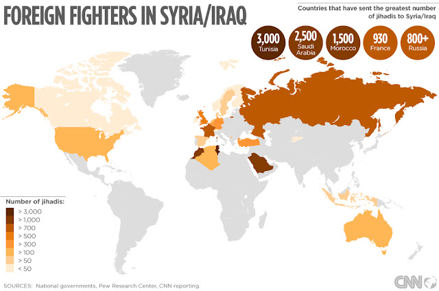 Foreign Fighters in Syria & Iraq by CNN