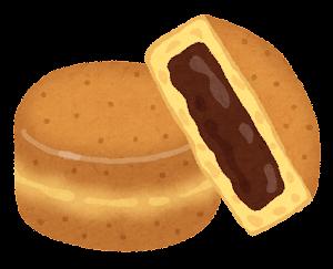 今川焼きのイラスト「チョコレート」