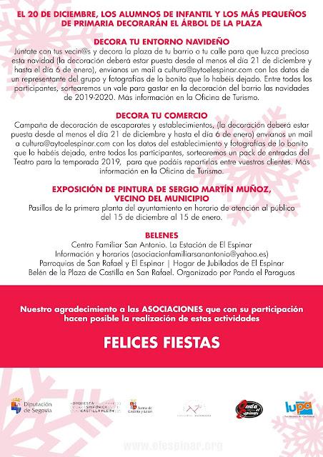 PROGRAMACIÓN DE NAVIDAD MUNICIPIO DE EL ESPINAR