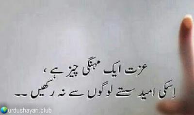 Izat Aik Mehnagi Cheez Hai..  Iski Umeed Sastay Logo Say Na Rekhay..!!  #poetry #urdushayari #lines