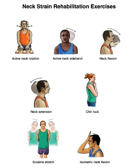 Isometric Exercises Chart: EXCLUSIVE PHYSIOTHERAPY GUIDE FOR PHYSIOTHERAPISTS: NECK