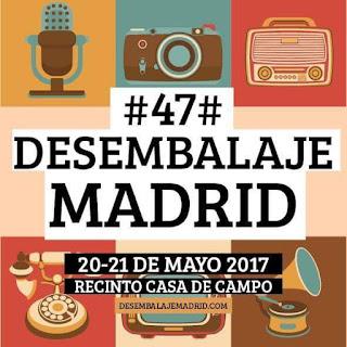 Cartel anunciador del Desembalaje de Madrir