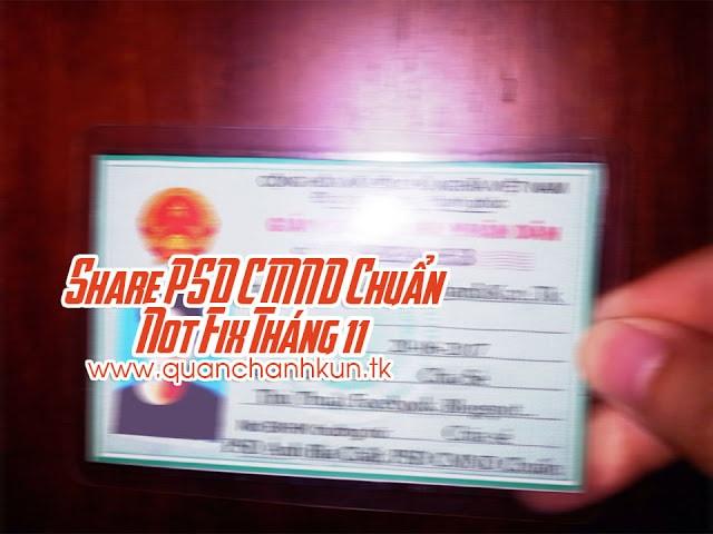 Share PSD CMND Chuẩn Not Fix Tháng 11