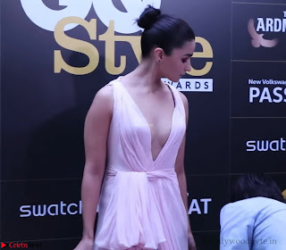 Alia Bhatt looks beautiful stunning in a Light Pink Deep neck Gown ~ Exclusive 007