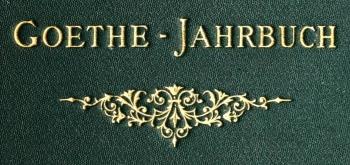 Jahrbuch der Goethe-Gesellschaft