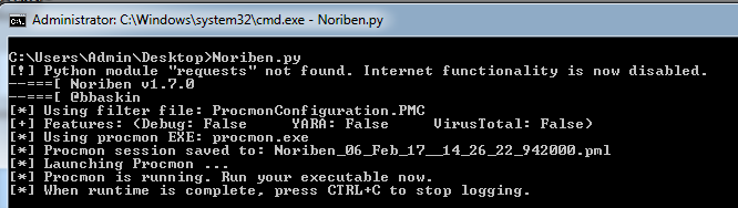 Noriben – The Portable Sandbox System