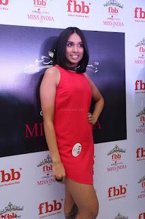 Spatika Surapaneni in Red Tight Dress at FBB Miss India 2017 finalists at Telangana auditions Feb 2017 (12).JPG