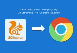 Cara Mengalihkan (Redirect) Pengunjung UC Browser ke Google Chrome