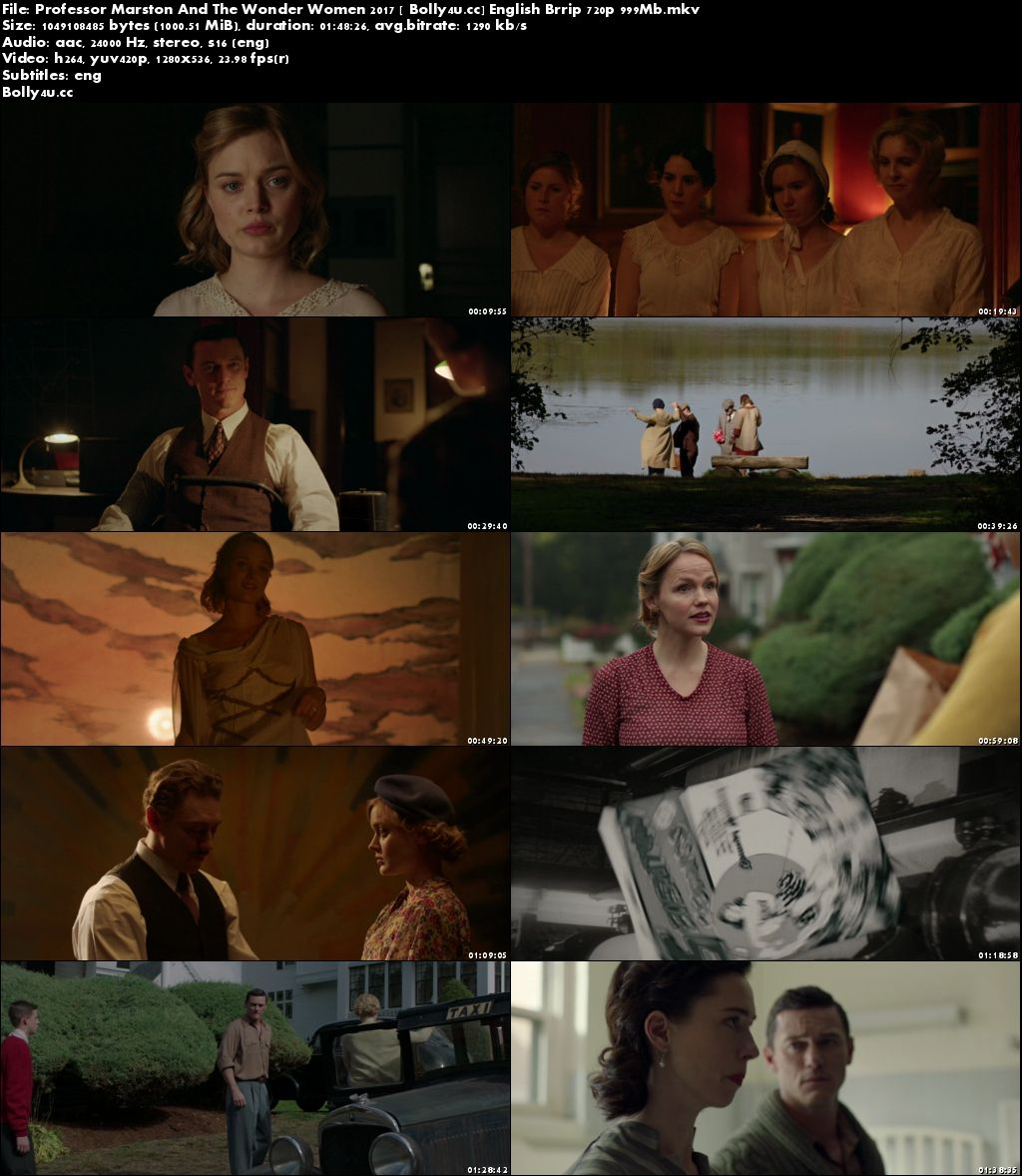 Professor Marston And The Wonder Women 2017 BRRip 999MB English 720p Download