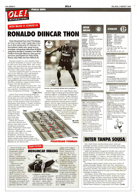 UEFA CUP 1998 INTER MILAN VS SCHALKE 04 RONALDO