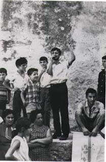 Impastato in 1968, campaigning against a third runway at Punta Raisa airport