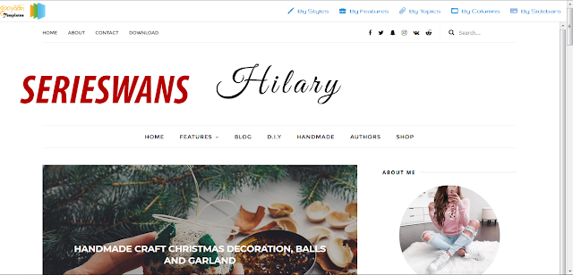 Download Template Hilary Blogger Responsive Terbaru