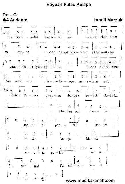 Lirik Lagu Rayuan Pulau Kelapa - Lagu Wajib Nasional