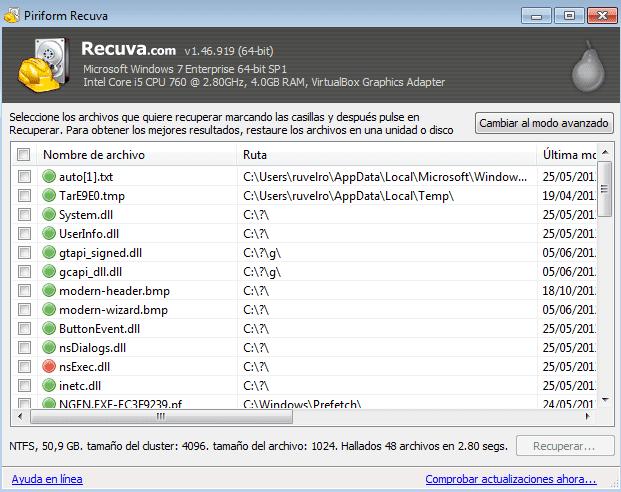 para recuperar archivos eliminados de una memoria usb necesitas un programa llamado recuva una vez lo tengas solo debes seleccionar los archivos y dar clic en recuperar