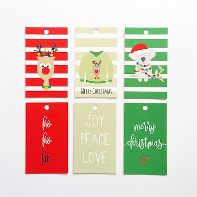 Set of 6 Assorted Christmas Gift Tags by Mum and Me Handmade Designs