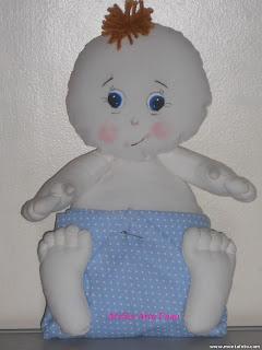 1 - Bebê em tecido