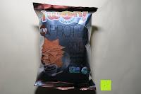 vorne: 8 x Glutenfreie Protein Chips, 52gr pro Tüte, 20gr organic Proteine, glutenfrei, natural, healthy (BBQ)