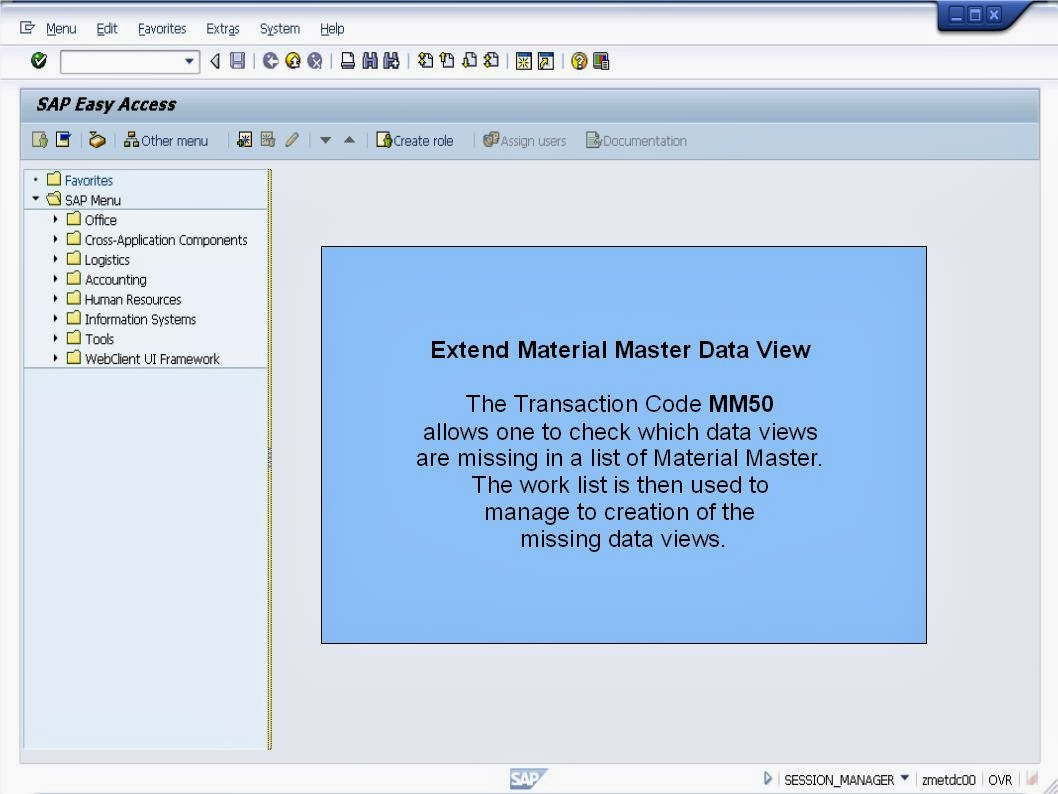 MM Extend Material Master using MM50