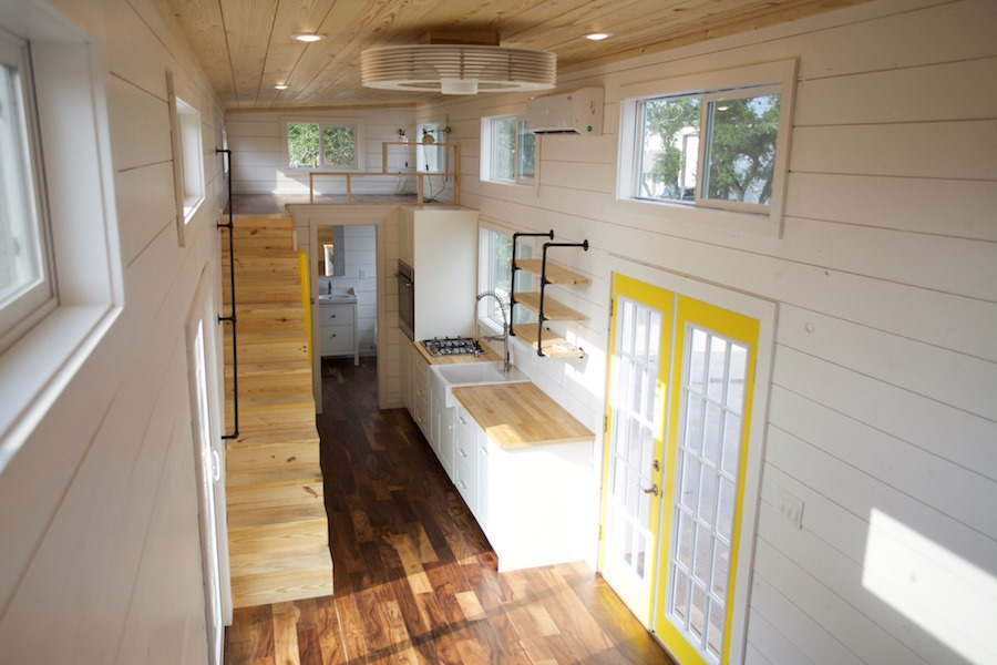 Tiny House Town: A Bright Blue Tiny House By Nomad Tiny Homes