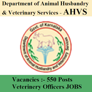 Department of Animal Husbandry & Veterinary Services, AHVS, freejobalert, Sarkari Naukri, AHVS Karnataka Admit Card, Admit Card, ahvs logo