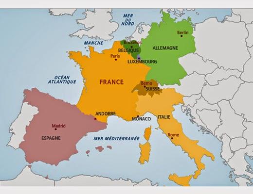 Cours de français: Les frontières de la France