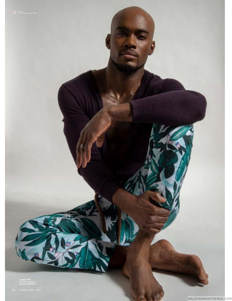 Dayne Facey luce elegantes piezas para el dandy moderno en 7HUES Magazine
