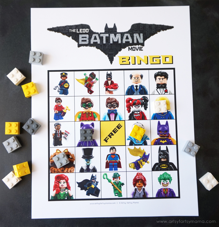 Free Printable Lego Batman Movie Bingo Artsy Fartsy Mama