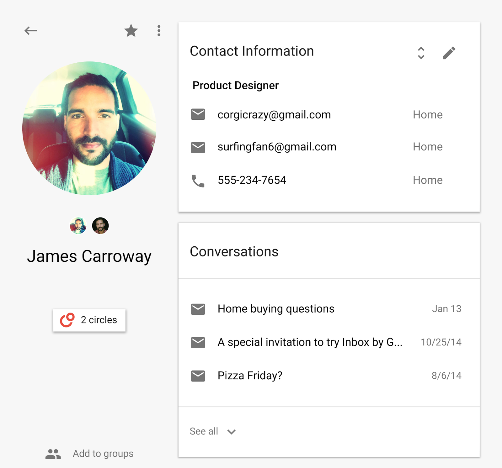 Google Contacts: Official Gmail Blog: The New Google Contacts: Bringing