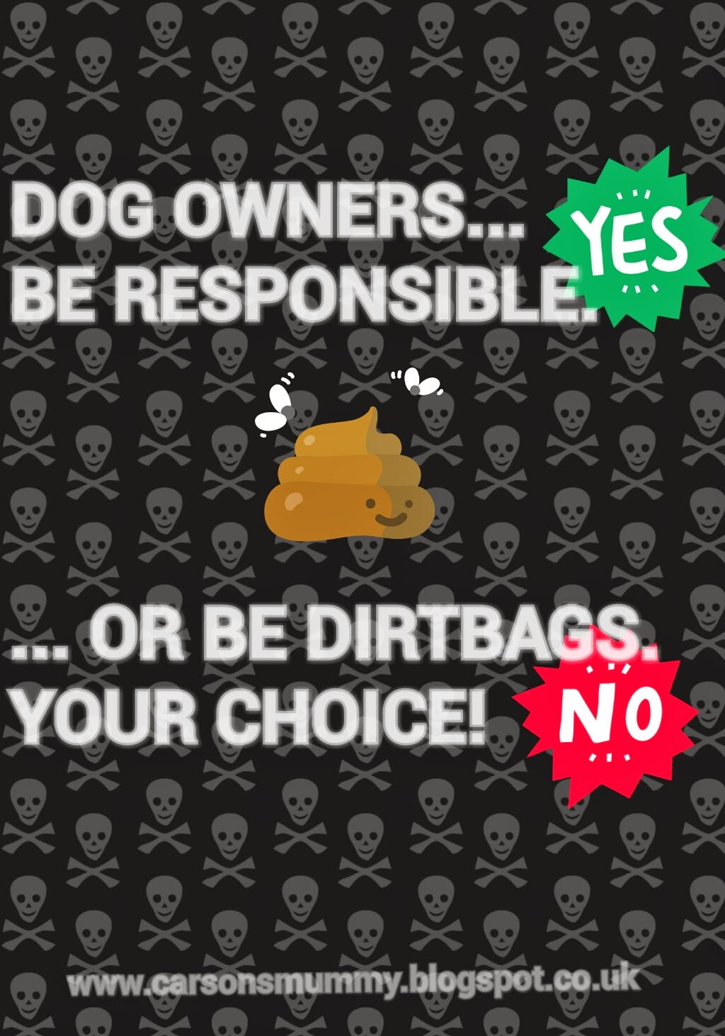 dog shit, dog fouling sign, dog owners be responsible