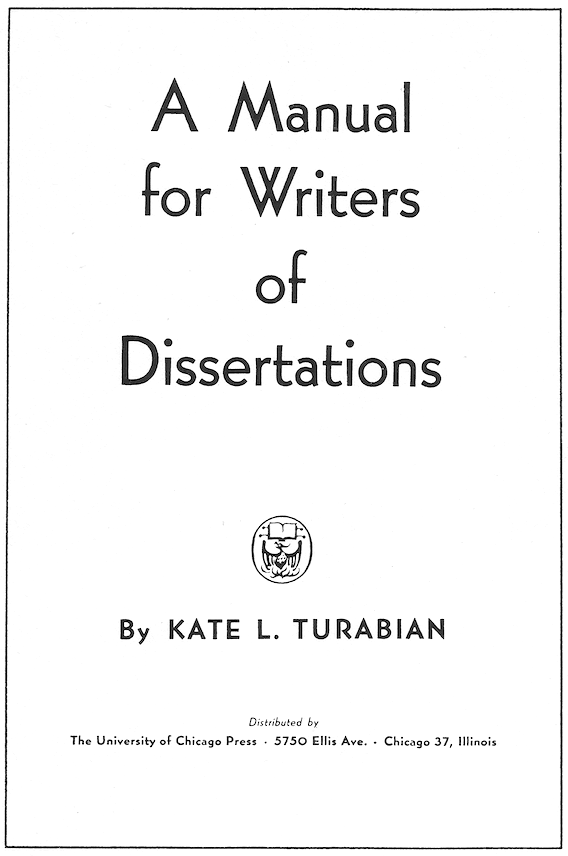 Orange Crate Art: A Manual for Writers of Dissertations
