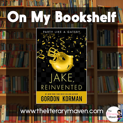 Jake, Reinvented by Gordon Korman is a modern take on The Great Gatsby set in high school. For anyone who has read Gatsby, the similarities are immediately clear, but for anyone who hasn't the story is just as enjoyable. The novel is narrated by Rick, but the focus is on the mysterious Jake who has just moved to town, takes up the position of snapper on the football team, and holds the wildest parties every Friday night. Read on for more of my review and classroom application.