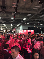 Red Hat booth swamped, all t-shirts and hats gone in first hour... amazing!